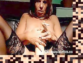 mature smoking masturbation